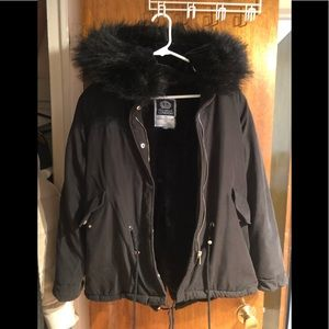 Jackets & Blazers - Black parka